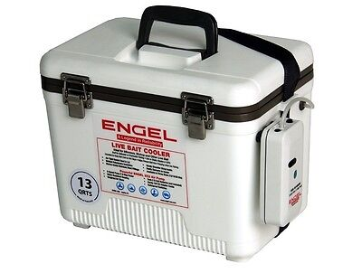 Portable Live Well Fishing Bait Tank Station Bucket Battery Powered Air Pump NEW