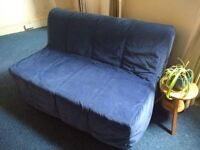 Ikea Lycksele 2-seater Sofa Bed - Bristol - Excellent condition, dark blue cover, sofabed, sofa-bed