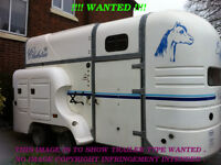 !!!! WANTED !!!! . Titan Clubstar / Club Star Horse Box Trailer , With Living Features .