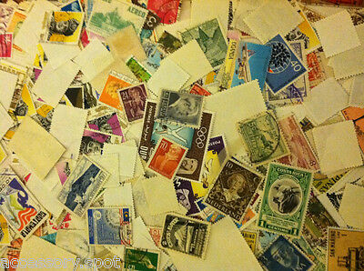 Used off Paper 1000 WW Stamps From huge HOARD BOX collection FREE SHIPPING!