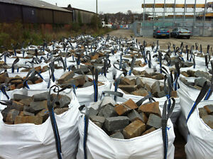 Bag of cropped random Welsh blue pennant walling / building / cladding stone