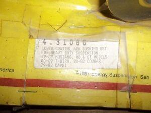 4-3108G ENERGY SUSPENSION FORD LOWER CONTOL ARM BUSHING SET Belleville Belleville Area image 2