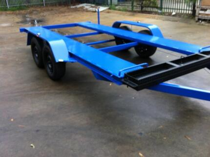 TANDEM AXLE CAR TRAILER 12X6.6FT 2T 14FT 16FT ALSO AVAIL Ingleburn Campbelltown Area Preview
