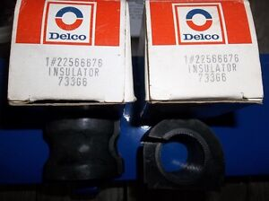 "2 - NEW DELCO #22566676 SWAY BAR INSULATORS FOR 1 1/8"" BAR"