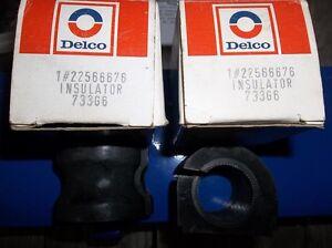 "2 - NEW DELCO #22566676 SWAY BAR INSULATORS FOR 1 1/8"" BAR"