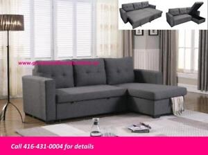 ** BRAND NEW SECTIONAL WITH PULL OUT BED..$699 ONLY **