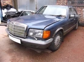 MERCEDES W126 500SE,BREAKING,PARTS,SEATS,DOORS,BUMPERS,15 HOLE ALLOYS,HEADLIGHTS,WINGMIRRORS,ENGINE