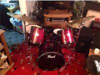 Pearl Export full size drum kit