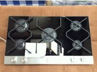 Brand New Black Ceramic 90cm Amica Hobs With 5 Gas Burners