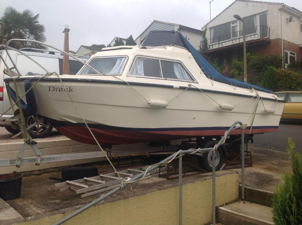 Fishing boat motor trailer for sale in teignmouth for Jet fishing boats for sale
