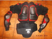 BMX Body Armour Jacket, GearX, size L. 40/42 Inch chest. Black/Red, hardly used.
