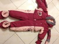 Habit de neige  Deux Par Deux snow suit  - girl 24 mth fille
