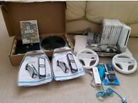 Nintendo Wii + 10 games inc mario kart + balance board & DJ hero