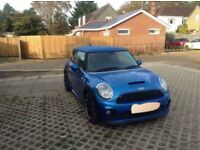 **REDUCED** 2007 Mini Cooper S turbo in laser blue with John cooper works body kit