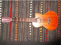Luna 8 string electro ukulele and bag