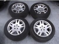 "Mercedes E class w211 Alloy Wheels & Tyres 8J x16"" 225,55,r16 pirelli tyres 7mm"
