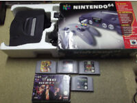 boxed n64 nintendo plus games