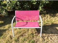 Child Bench Pink £obo!
