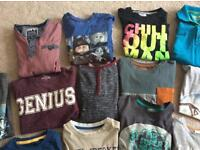 Boys tee-shirts and long sleeved 7years x 14 items