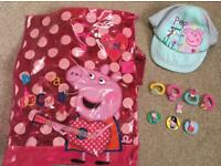 Peppa pig swim bag & hat