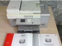 Lexmark X9350 wireless printer / scanner with manuals and power lead