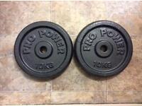 2 x 10kg Pro Power weights