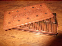 Large Bourbon Biscuit Tin with some unopened bourbons!
