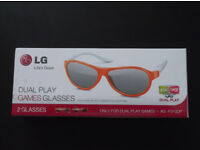 LG Dual Play 3D Games Glasses (Unused)