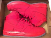 Nike lunar Air Force 1's (RED)