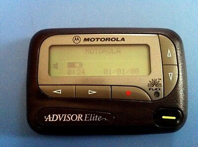 Motorola Advisor Elite Alpha Numeric Pager - Service Available! Free Programming ()