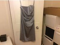 Silver Alfred Angelo Bridesmaid dress - Size 10/12