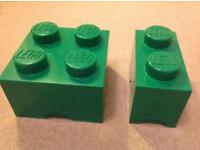 Lego storage bricks - green