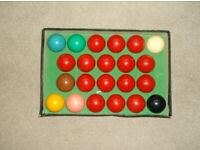 Super crystalate Snooker / Billiard balls