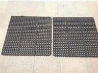 Lawn / Grass mats x2 - use under swings / slide / climbing frame