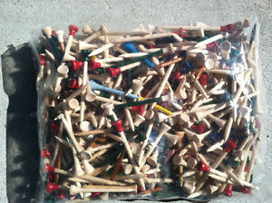 BULK GOLF TEES  - FACTORY SURPLUS/OVERSTOCK 1000 PCS (BY WEIGHT)