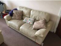 Two piece leather sofas