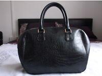 Black Patent Large Bag
