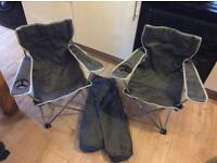 2 x kids camping chairs