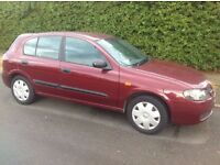 nissan almera 1.4 52 reg only 2 previous keepers 2 keys, recent service good reliable family car