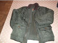 Fantastic Boys jacket for aged 4 years excellent condition ,dark green quilted style John Lewis
