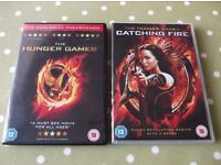 Jennifer Lawrence The Hunger Games & Catching Fire DVD's - cash on collection from Gosport Hampshire