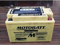 Motobatt 12 V Battery MBTX9U Off a Suzuki Bandit 600 (upgrade from YTX9-BS) may fit other bikes