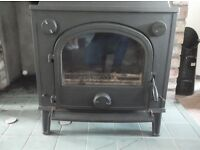 Large Multi Fuel Burning Stove with Back Boiler