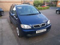 Vauxhall Zafira 2.0 dti turbo diesel 7 seater,54 reg,tax had 12 months mot and two new dunlop tyres