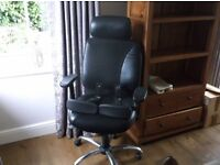 Leather look executive office chair.