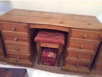 Solid pine dressing table 60 Stool £15 stool mirror 25 Bedside tables 25 each will sell separately