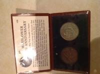 Coin set - 1970 mayflower 350 year anniversary