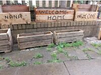 wooden planters for sale ideal for the garden made from decking or recyled timber
