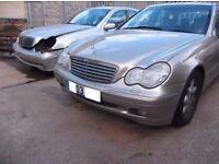 Mercedes C class headlight c200,c180,c240,220cdi,c270cdi parts breaking