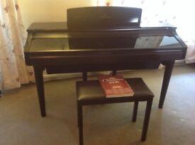 Ebony Yamaha Clavinova CVP-96 piano with free stool